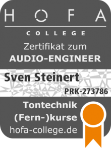 Zertifikat Audio Engineer